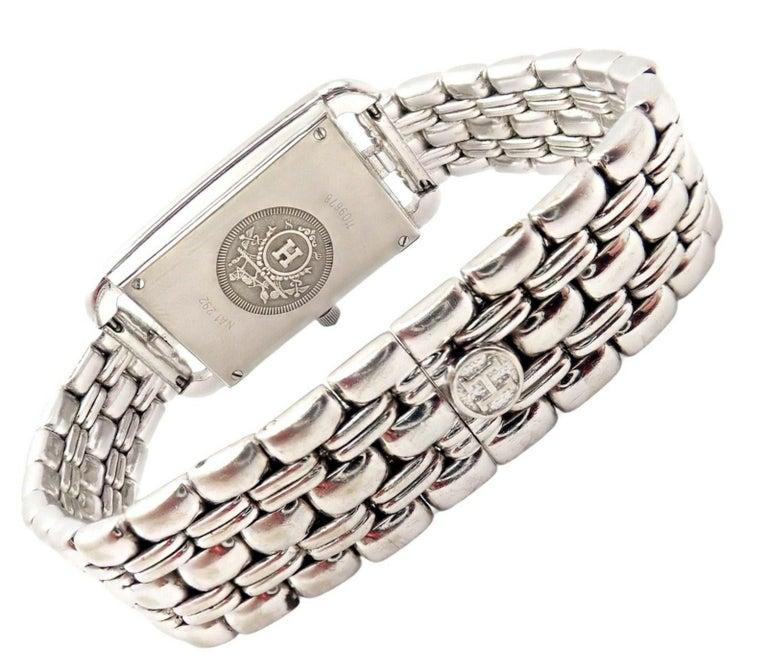 Hermès Ladies White Gold Diamond Cape Cod Nantucket Quartz Wristwatch For Sale 1