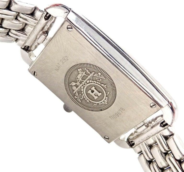 Hermès Ladies White Gold Diamond Cape Cod Nantucket Quartz Wristwatch For Sale 2