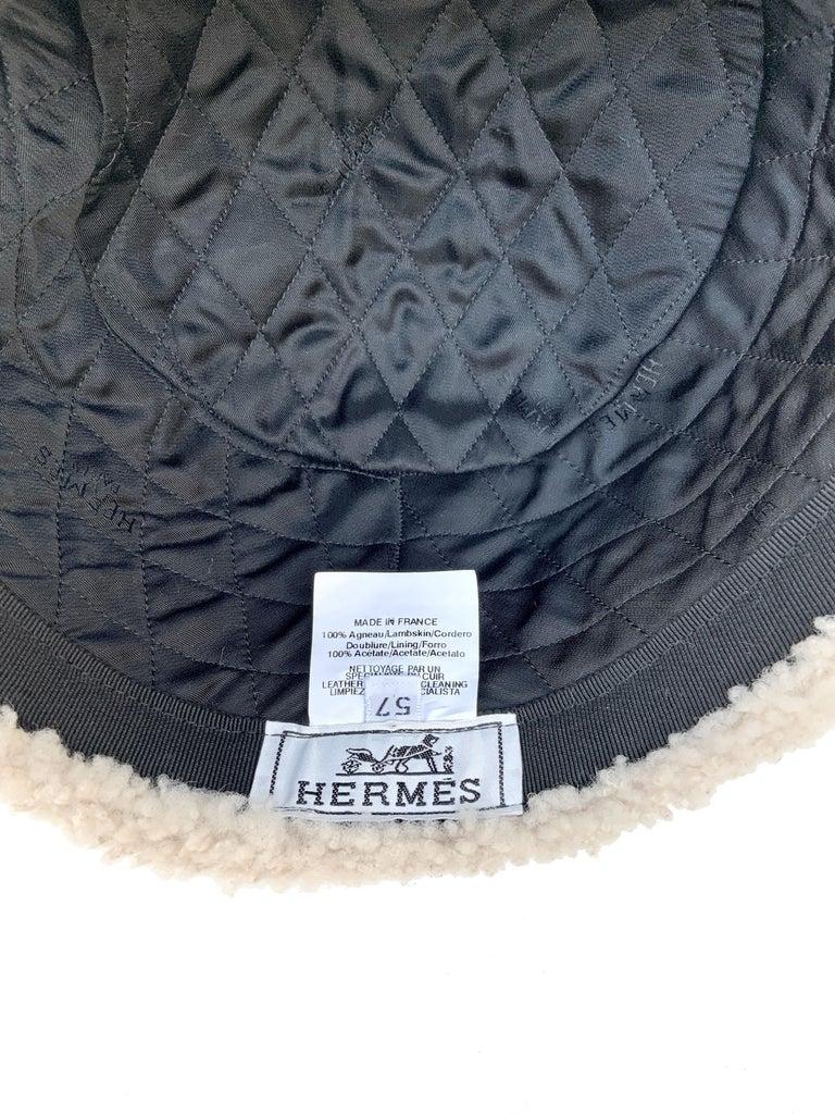 Hermès Lambskin Chapka  For Sale 5