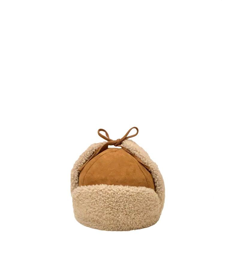Brown Hermès Lambskin Chapka  For Sale