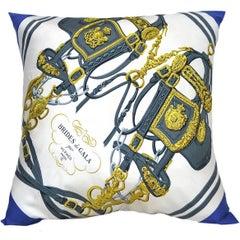 """Hermes Large """"Brides de Gala"""" Scarf Pillow"""