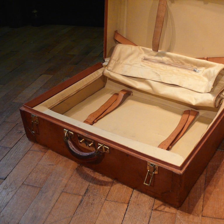 Hermès Large Leather Suitcase, circa 1955 For Sale 4