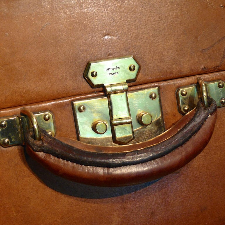 Hermès Large Leather Suitcase, circa 1955 For Sale 6
