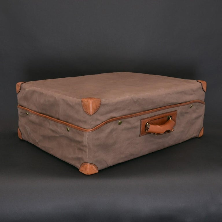 Hermès Large Leather Suitcase, circa 1955 For Sale 8
