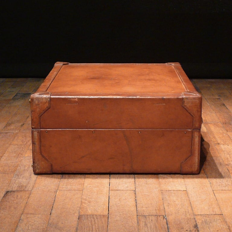 Hermès Large Leather Suitcase, circa 1955 In Good Condition For Sale In London, GB