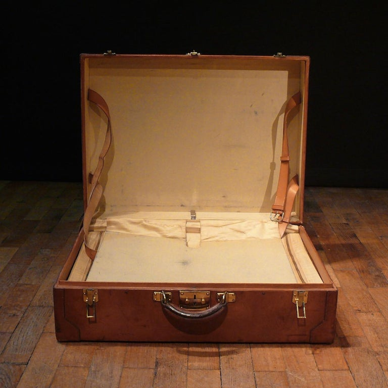 Hermès Large Leather Suitcase, circa 1955 For Sale 3