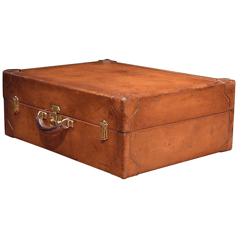 Hermès Large Leather Suitcase, circa 1955 For Sale