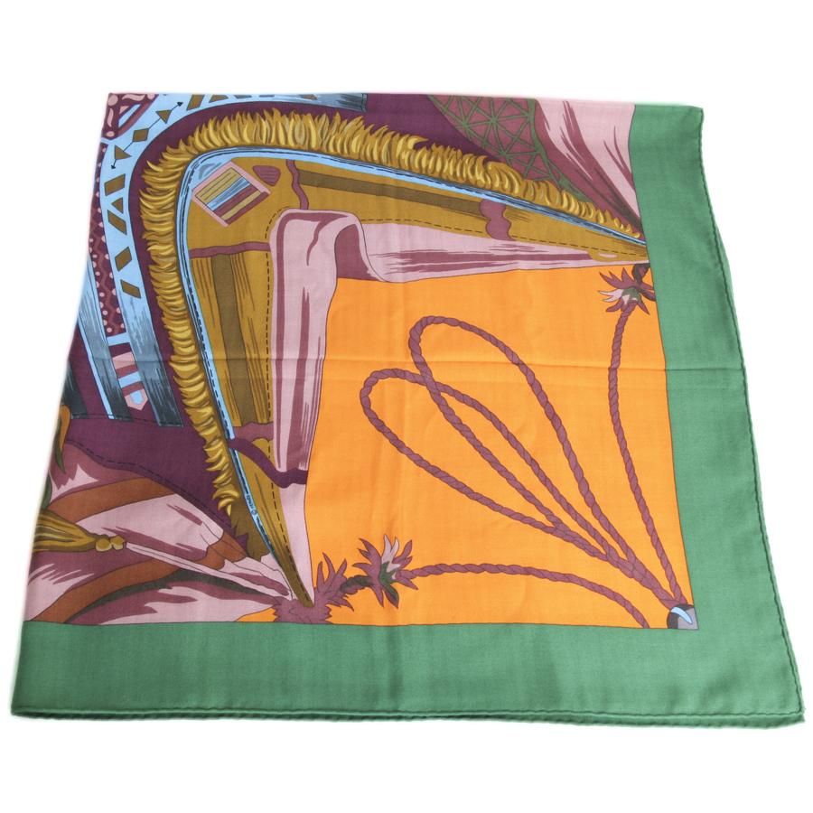 HERMES Large Shawl in Multicolor Cashmere and Silk