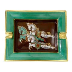 Hermés Late 20th Century Cheval Horse Porcelain Tray