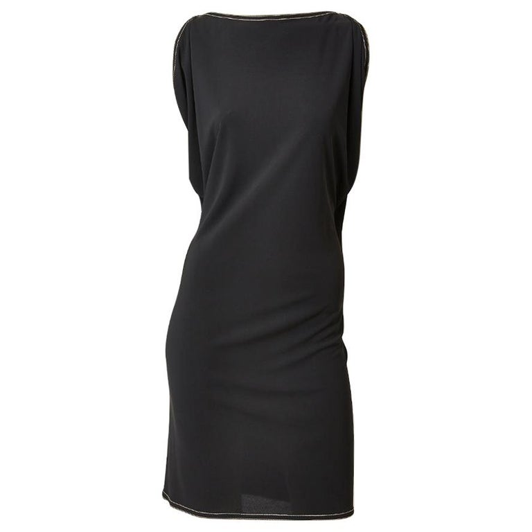 Hermes LBD with Leather Harness Detail For Sale