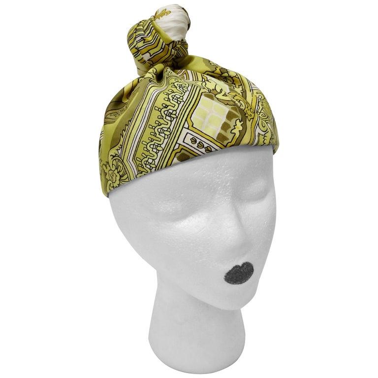 "Hermés ""Le Soleil Royal"" Silk Turban  For Sale"