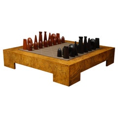 Hermes Leather and Wood Chess Set