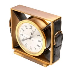 Hermes Leather Belt Buckle Clock