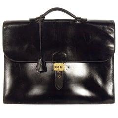 Hermes Leather Briefcase, Sac à Dépêches