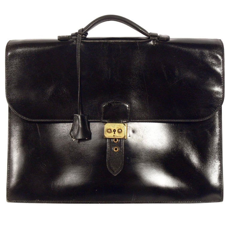 95637778a7f6 Hermes Leather Briefcase