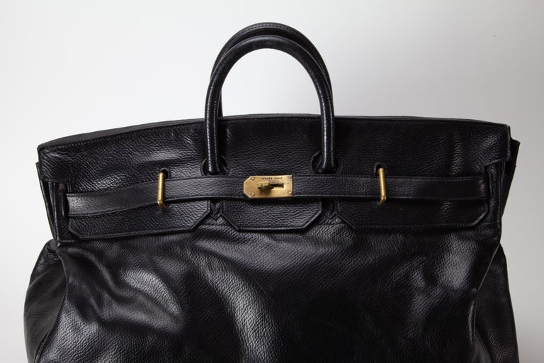 For your consideration is one of the most rare, and spectacular bags we have ever come across. This bag is in incredible structural condition, with many years of life left it. At 55cm, this is one of the largest bags Hermes ever made. All corners