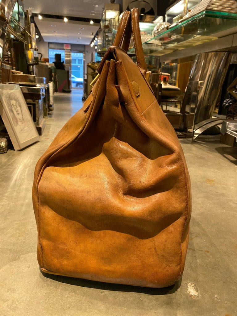 Hermès Leather HAC, 1970s In Good Condition In New York, NY