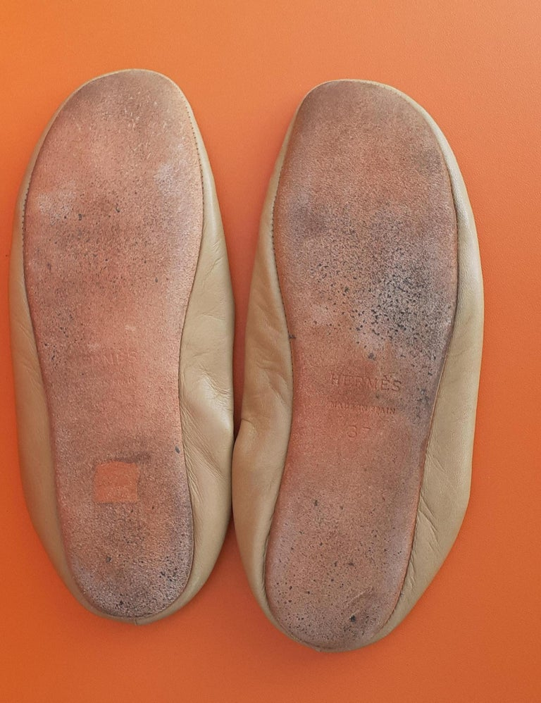 Hermès Leather Shoes Slippers Size 37 FR  For Sale 7
