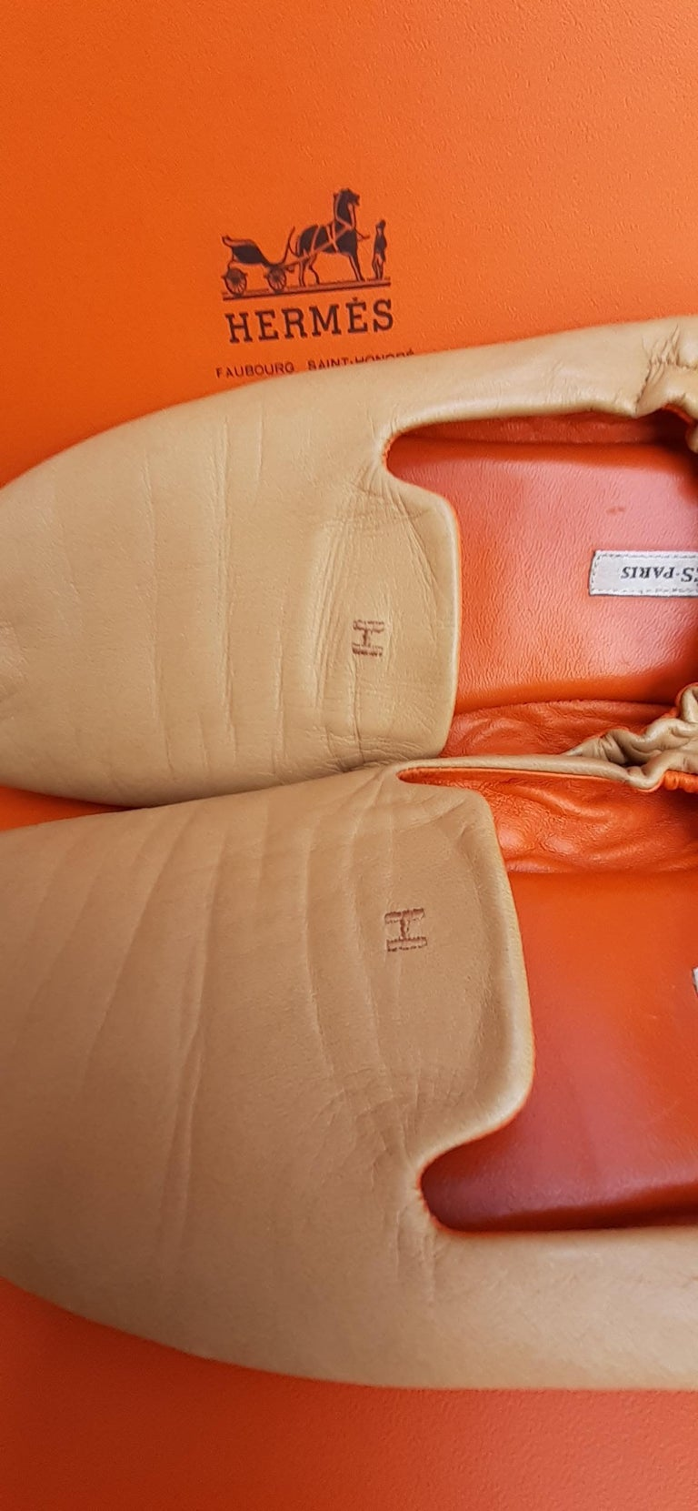 Hermès Leather Shoes Slippers Size 37 FR  For Sale 2