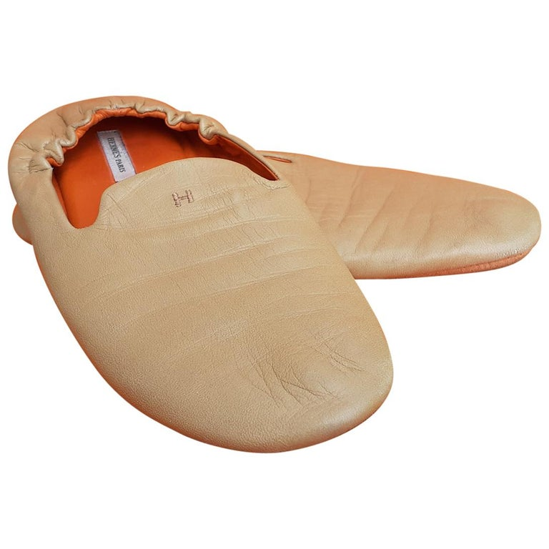 Hermès Leather Shoes Slippers Size 37 FR  For Sale