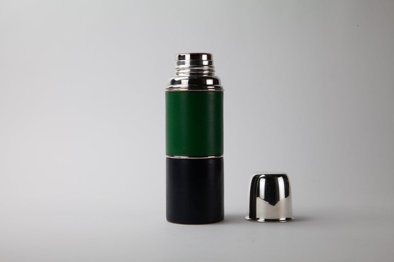 Modern Hermès Leather Wrapped Thermos For Sale