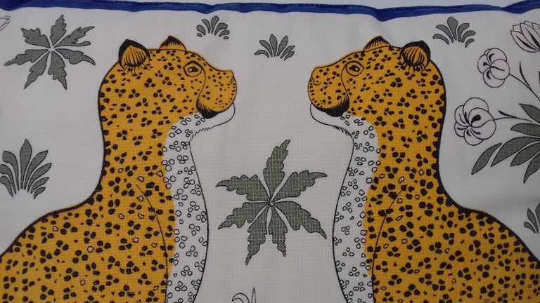Hermès Leopards Printed Cushion 1