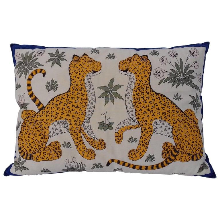 Hermès Leopards Printed Cushion