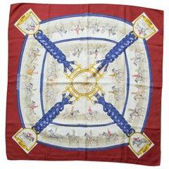 Hermes Les Allures Du Cheval Silk Scarf Vintage