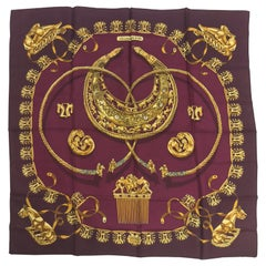 Hermes Les Cavaliers D'Or Silk Twill Scarf designed by Vladimir Rybaltchenko