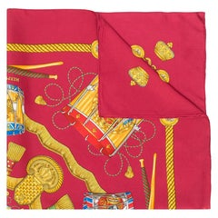 Hermès 'Les Tambours' Silk Print Scarf