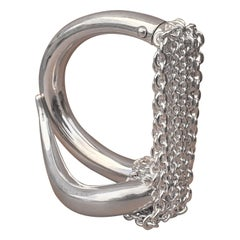 Hermès Licol Shiny Silver Bracelet Small Size Rare