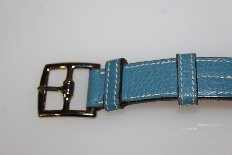 Women's Hermes Light Blue Belt For Sale