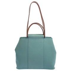 Hermes Light Green Canvas Cabag Elan PM Bag