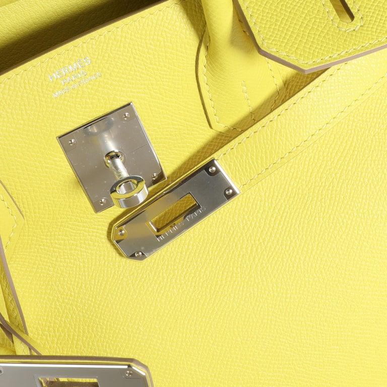 Hermès Lime Epsom Birkin 30 PHW 2