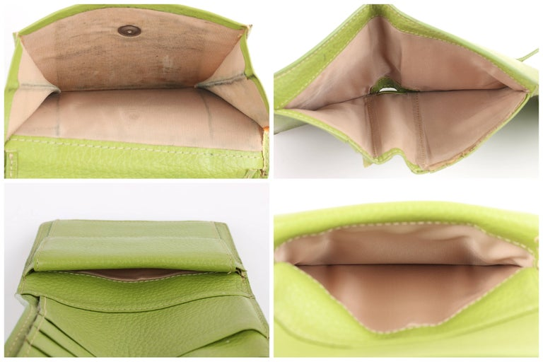 HERMES Lime Green Pebbled Leather