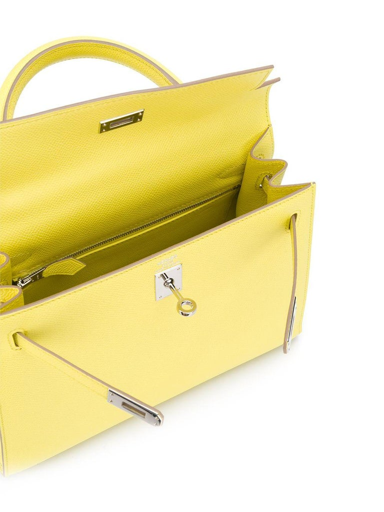 Yellow Hermès Limited Edition 25cm Candy Kelly Bag For Sale