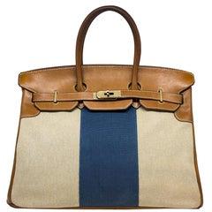 Hermes Limited Edition 35cm Birkin Barenia Flag Bag