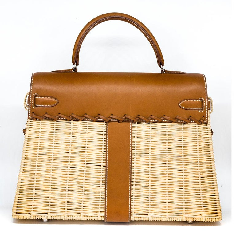 Hermès Limited Edition 35cm Kelly Picnic Bag In Good Condition For Sale In London, GB