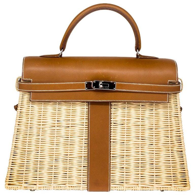 Hermès Limited Edition 35cm Kelly Picnic Bag For Sale