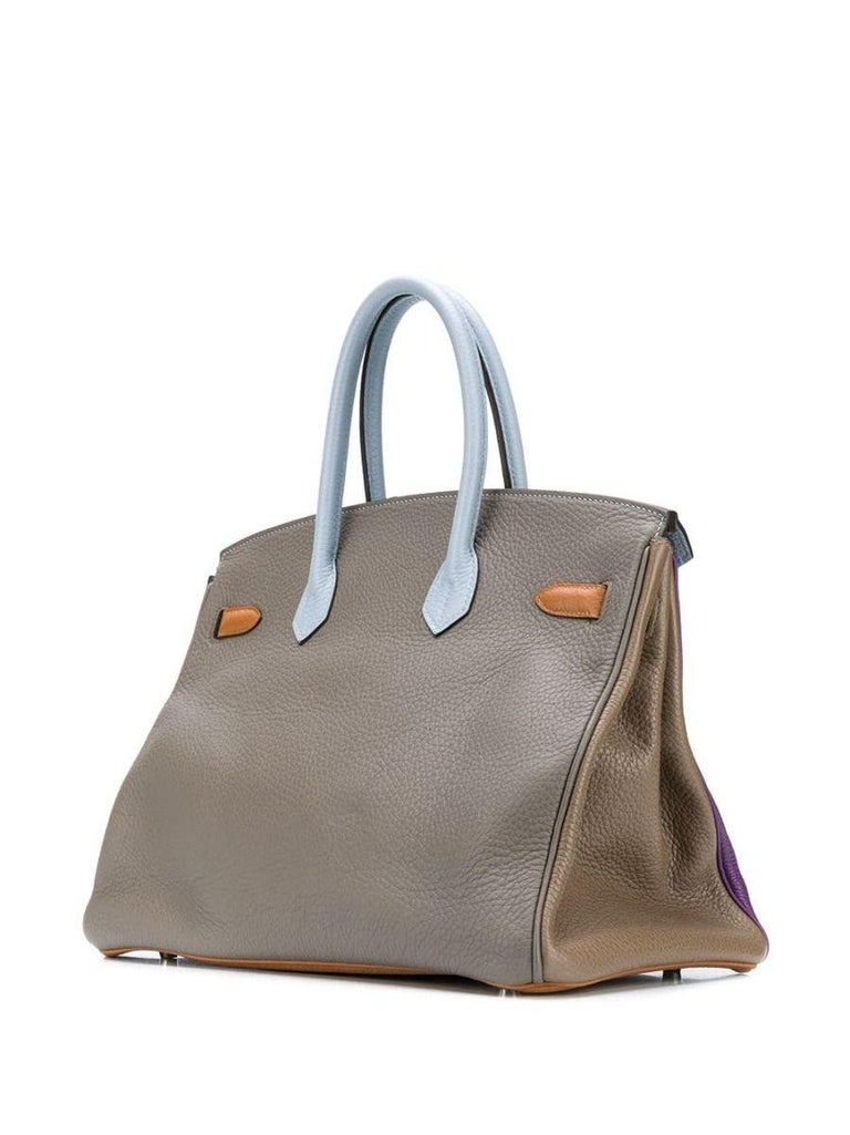 Gray Hermès Limited Edition Arlequin Harlequin 35cm Birkin Bag For Sale