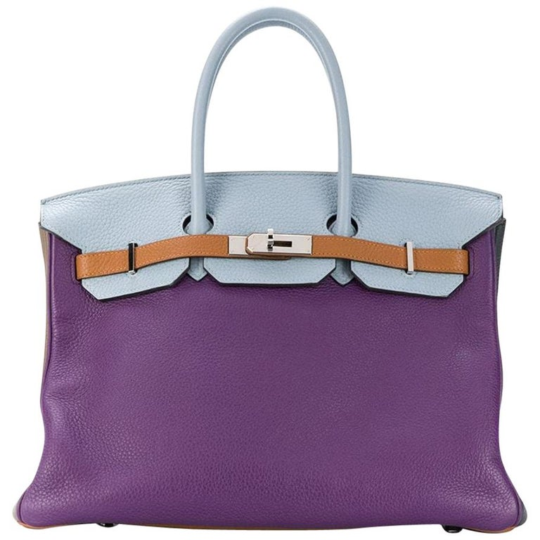Hermès Limited Edition Arlequin Harlequin 35cm Birkin Bag For Sale