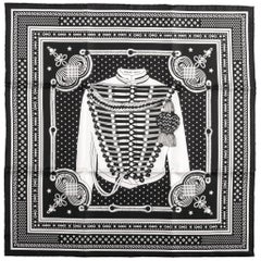 Hermes Limited Edition Black Bandana Brandebourg Scarf