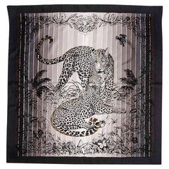 Hermes Limited Edition Jungle Love Rainbow Embroidered Scarf Silk 90