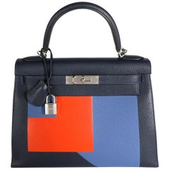 Hermès Limited Edition Kellygraphie Lettre R Sellier Kelly 28 PHW