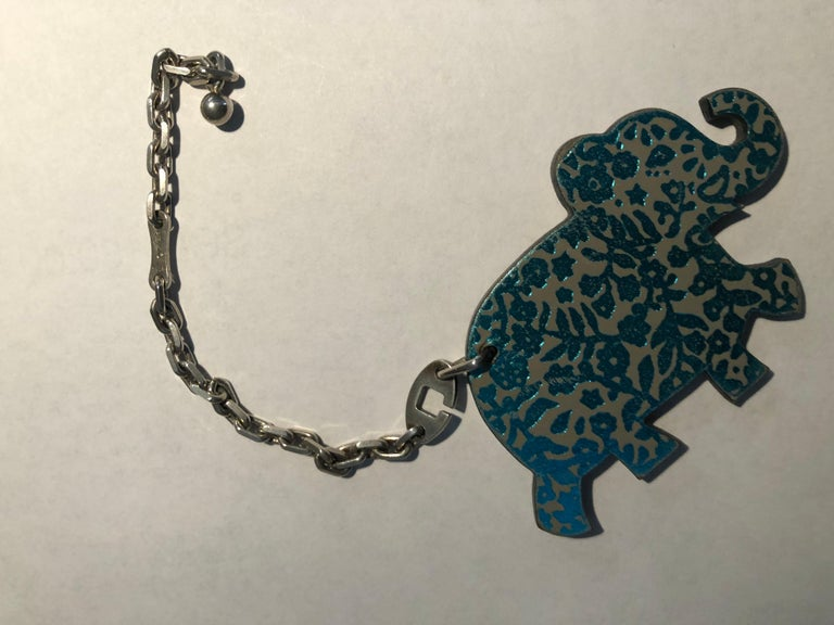 Hermes Limited Edition Leather Haati Elephant Bag Charm w/Box In Excellent Condition For Sale In Port Hope, ON