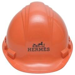 Hermes Limited Edition Orange Construction Helmet Hat Toronto, 2008 Mint