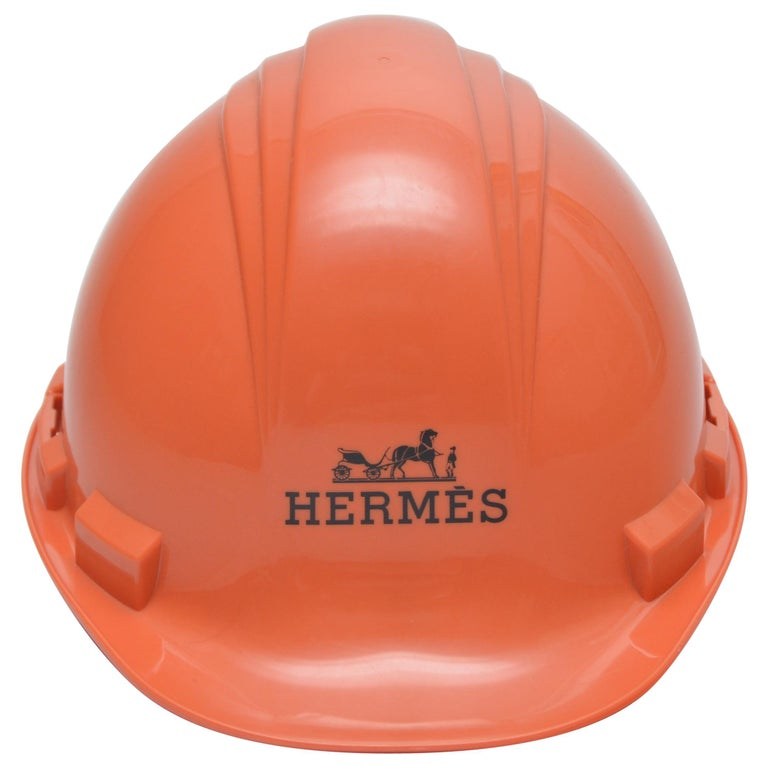 Hermes Limited Edition Orange Construction Helmet Hat Toronto, 2008 Mint For Sale