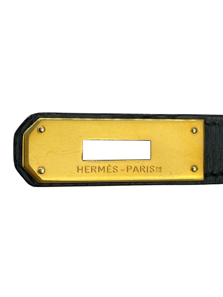 Hermès Limited Edition Vintage Tri-Color Box Calf Kelly Handbag 32, 1991. For Sale 14