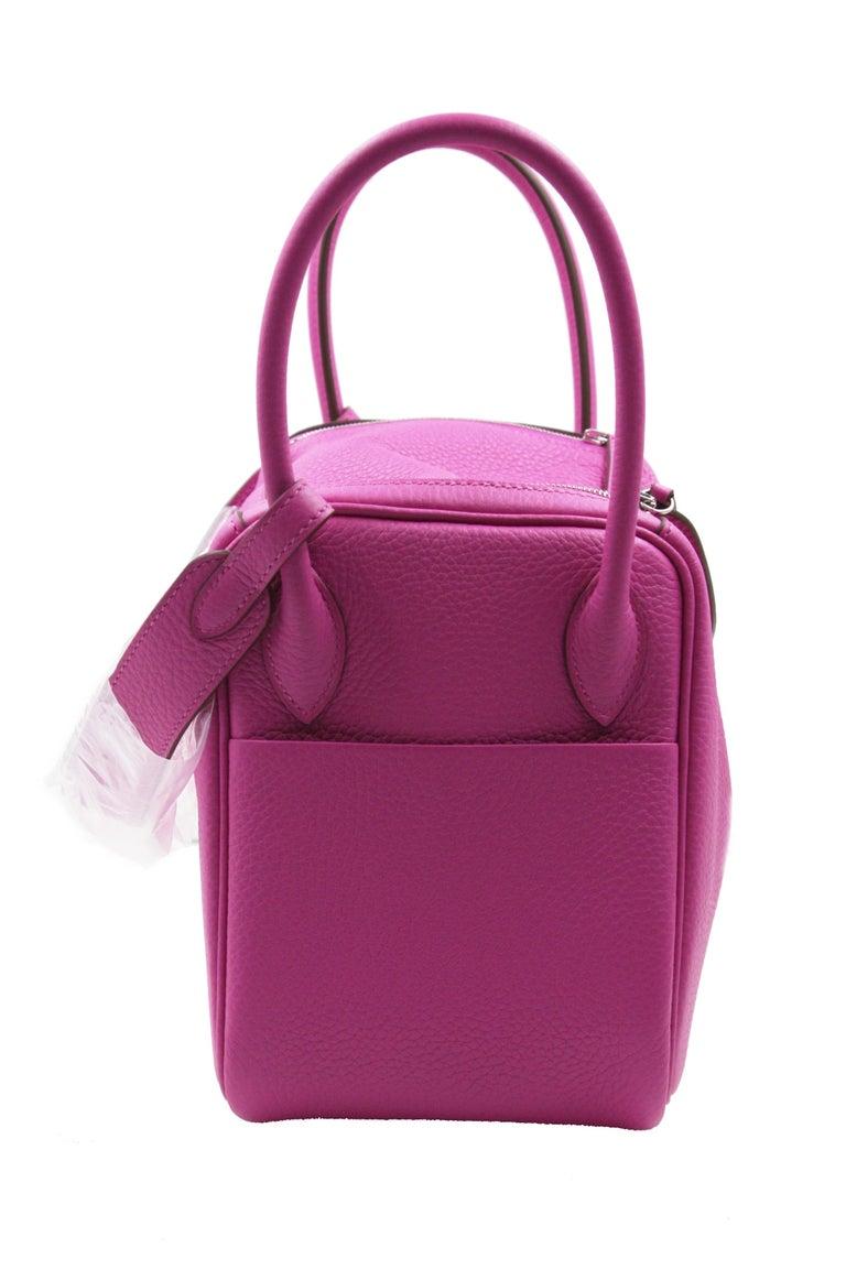 Purple Hermès Lindy 26 Bag, Magnolia For Sale