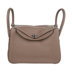 Hermes Lindy 30 Bag Coveted eToupe Clemence Palladium